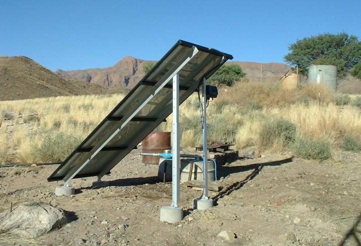 NAMIBIA solar panels..