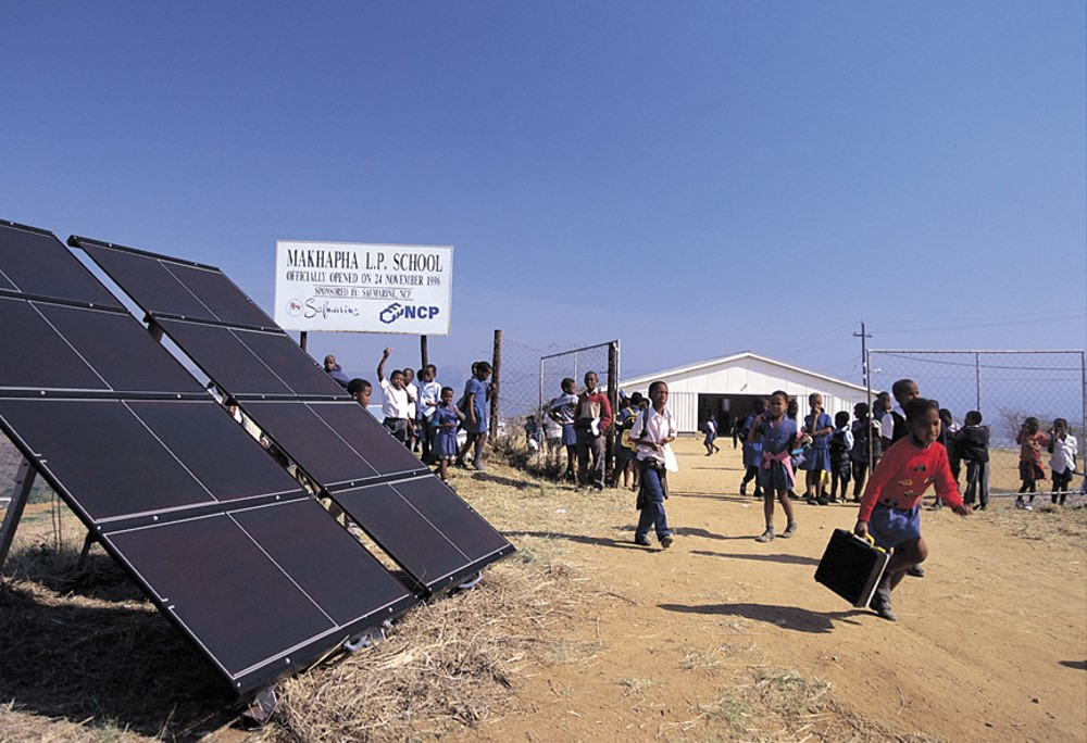 SOUTH AFRICA solar panels..
