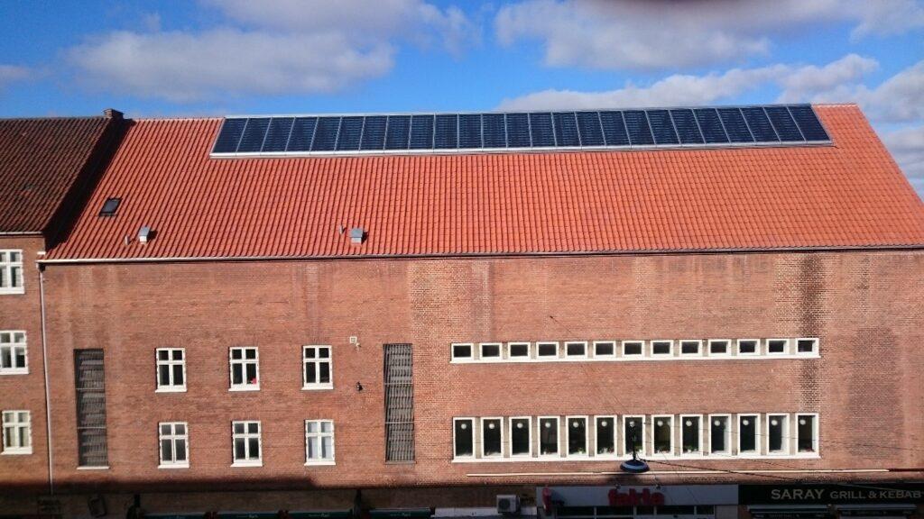 solar panels for community centre